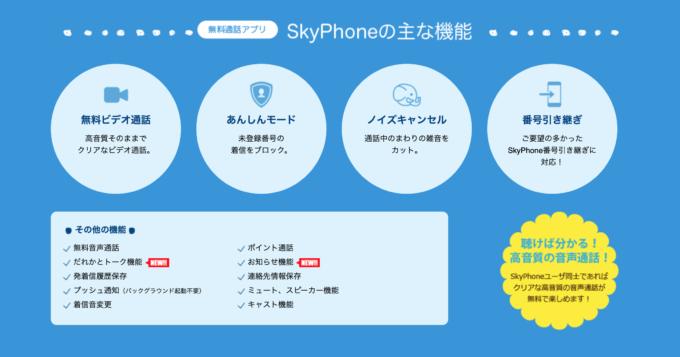 skyphoneの機能